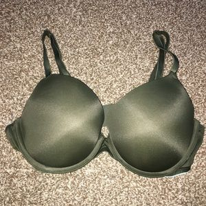 Dark green Victoria's Secret push-up bra 36C